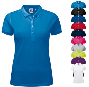 Z566F Russell Ladies Stretch Polo