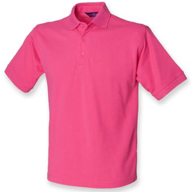 henbury-men-s-65-35-classic-pique-polo-shirt-fuchsia
