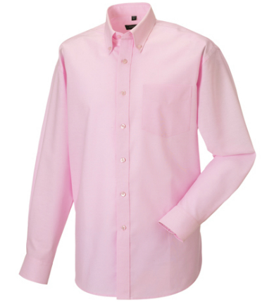 russell-collection-langaermeliges-oxford-hemd-classic-pink