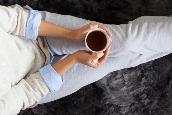 Kaffeepause in der Jogginghose