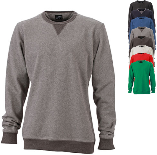 JN992 James+Nicholson Mens Basic Sweat