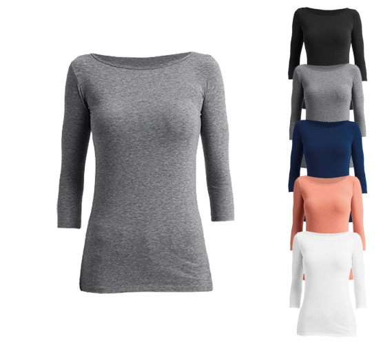 Anvil Womens Stretch 34 Sleeve Tee schicke-sommerpullis