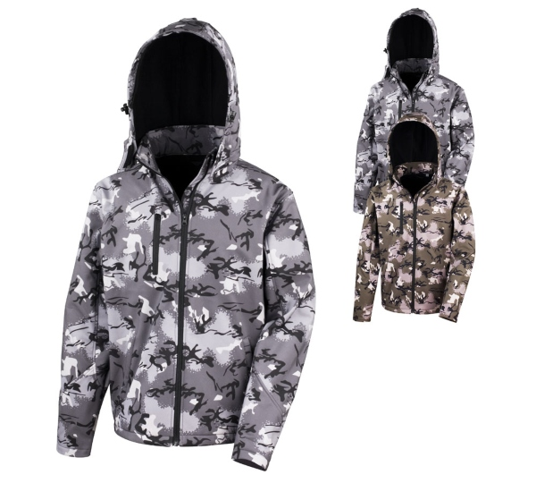 Result Camo TX Performance Hooded Softshell Jacket Camo militaeroptik