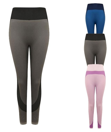 tombo-ladies-seamless-panelled-leggings