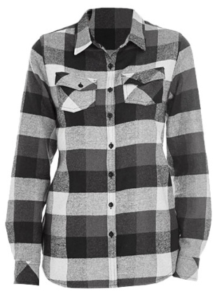 BU5210 Burnside Women`s Woven Plaid Flannel Shirt