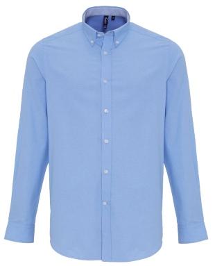 Hellblaues Männer Hemd, Oxford Stil