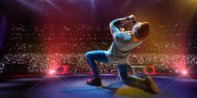 Rockstar auf der Bühne