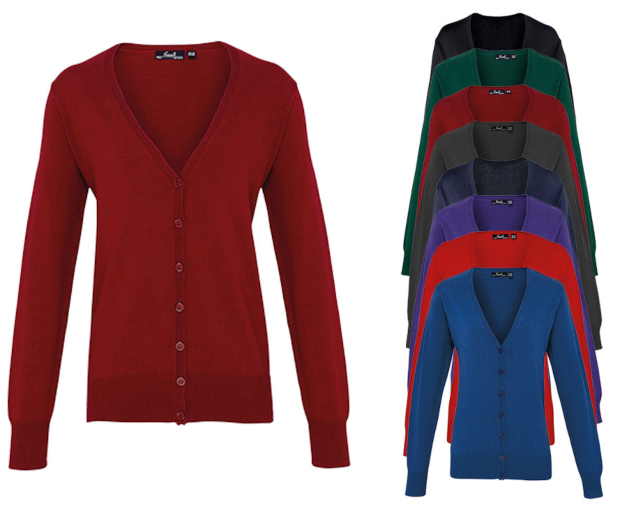 PW697 Premier Workwear Ladies Button Through Knitted Cardigan