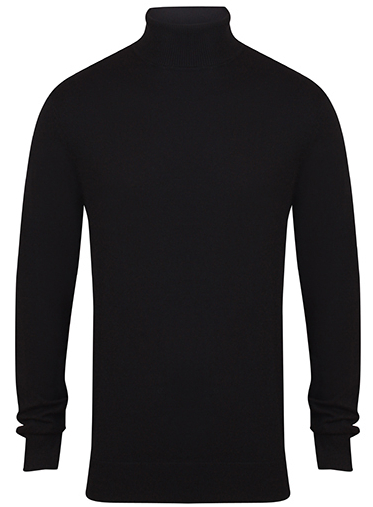 W727 Henbury Mens Roll Neck Jumper