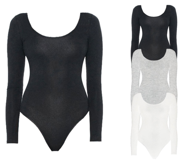AM8357 American Apparel Women´s Long Sleeve Double U-Neck Bodysuit