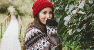 Frau in nordischer Mode