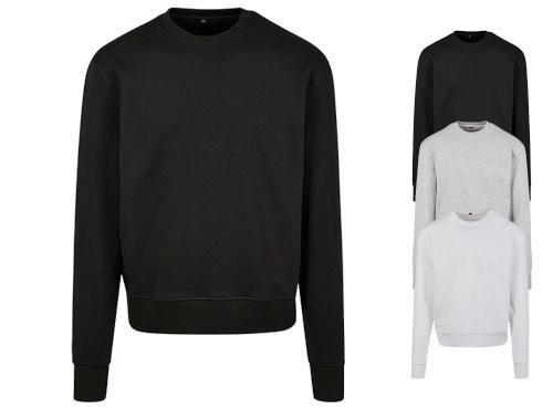 Build Your Brand Premium Oversize Crewneck Sweatshirt key-pieces-fuer-herbst-und-winter
