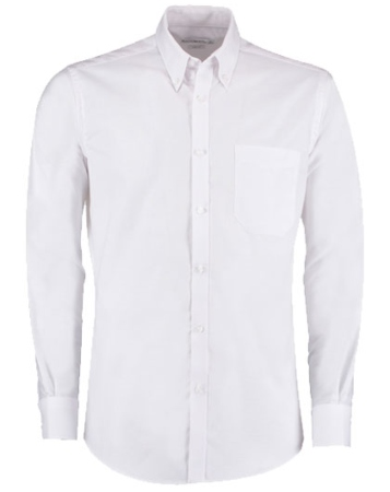 K182 Kustom Kit Slim Fit Stretch Oxford Shirt Long Sleeve