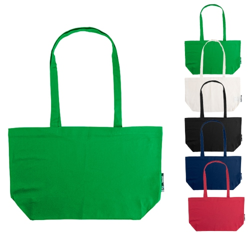 Neutral Shopping Bag with Gusset
