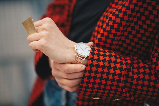 Pepita Muster auf einer Jacke