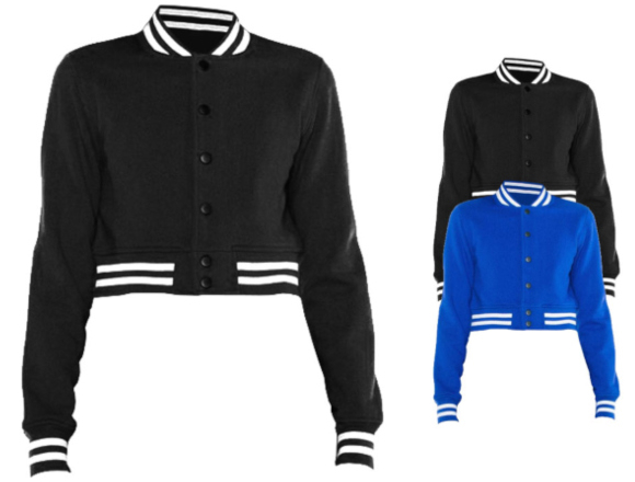 American Apparel Women`s Heavy Terry Cropped Club Jacket