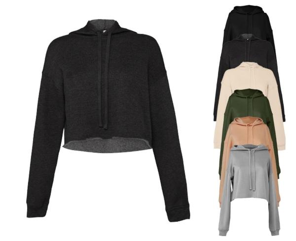 bella-women-s-cropped-fleece-hoodie