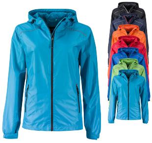 JN1117 James+Nicholson Ladies` Rain Jacket - Wasserdichte Kleidung