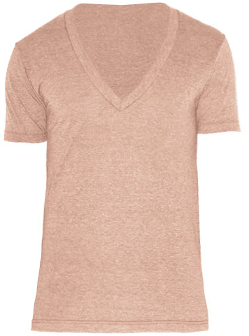 AM456 American Apparel Unisex Tri-Blend Shortsleeve Deep V-Neck T-Shirt