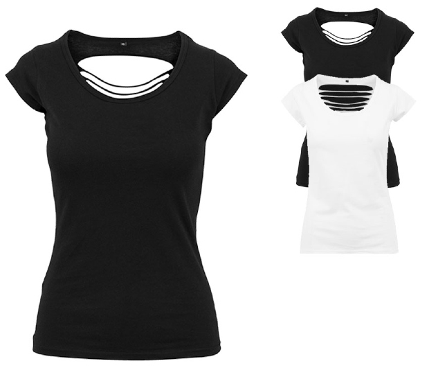 BY035 Build Your Brand Ladies Back Cut Tee