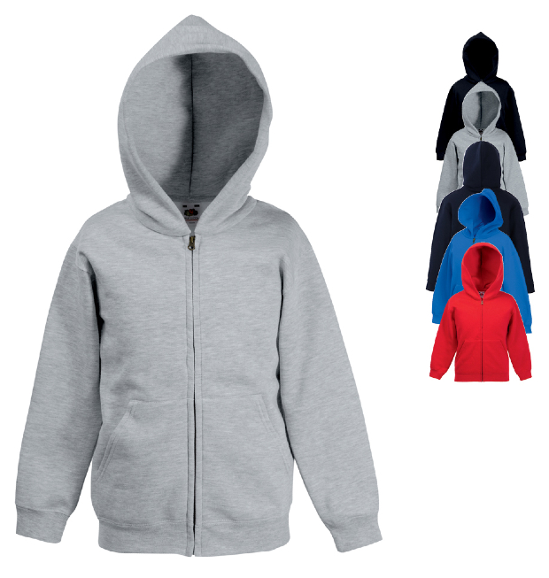 Fruit of the Loom Kids Hooded Sweat-Jacke