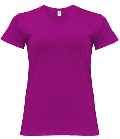 JHK604 JHK Curves T-Shirt V-Neck Lady