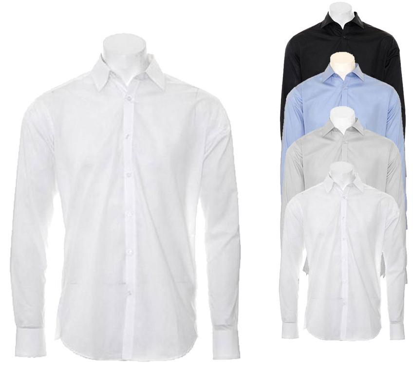 K192 Kustom Kit Slim Fit Business Shirt Long Sleeved