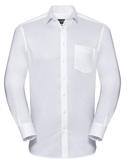 Z972 Russell Collection Men`s Long Sleeve Tailored Coolmax® Shirt