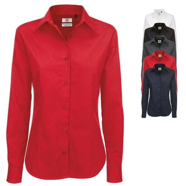 BCSWT83 B&C Twill Shirt Sharp Long Sleeve / Women - Schicke Twillhemden