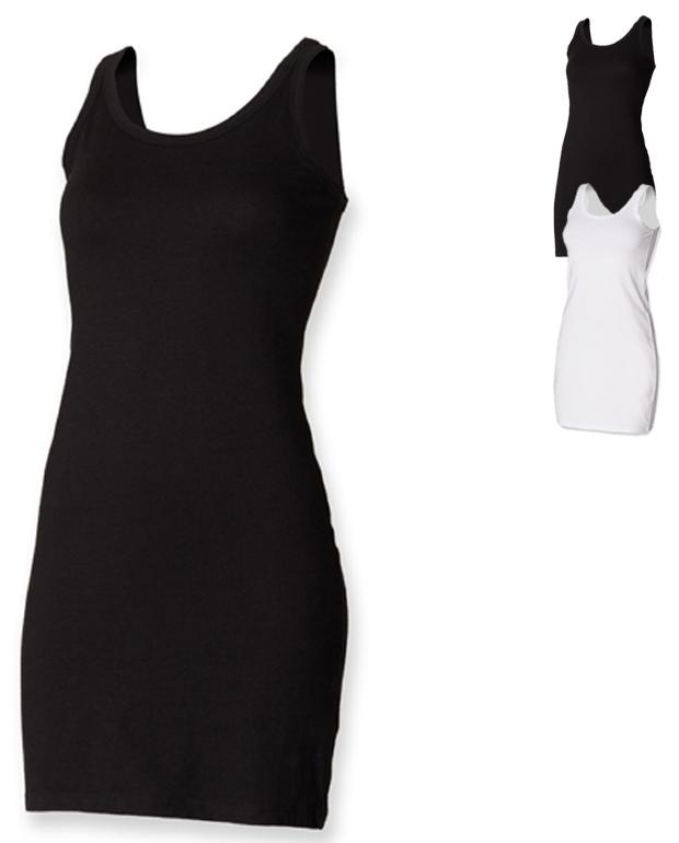 SF104 SF Women Ladies Stretch Vest Dress