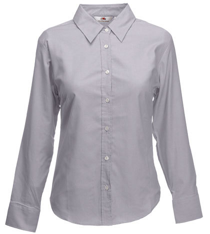 Fruit of the Loom Lady-Fit Long Sleeve Oxford Bluse - Dezente Mode