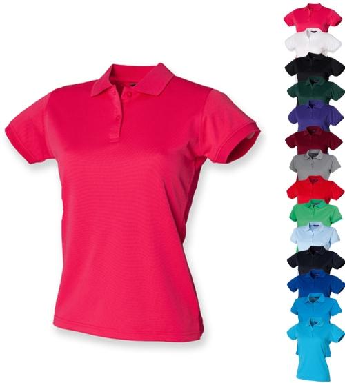 W476 Henbury Ladies Coolplus Wicking Polo Shirt