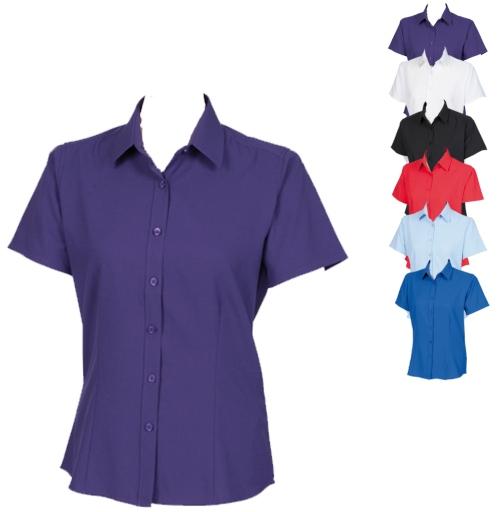 W596 Henbury Ladies Wicking Short Sl. Shirt