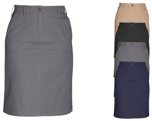Brook Taverner Business Casual Collection Austin Chino Skirt