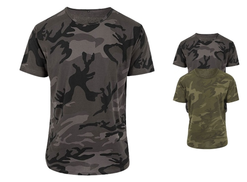 BY079 Build Your Brand Camo Tee
