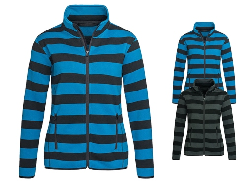 S5190 Stedman Active Striped Fleece Jacket for women Mustermix