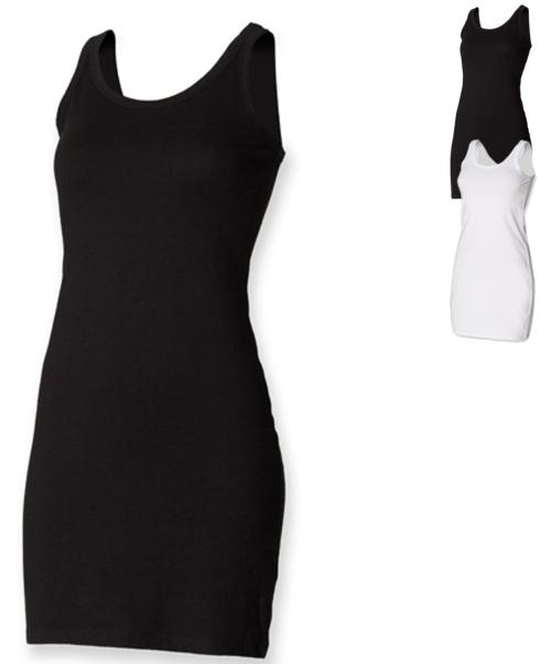 Women Ladies Stretch Vest Dress