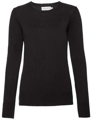 Z717F Russell Collection Ladies Crew Neck Knitted Pullover Minimalistischer Kleiderschrank