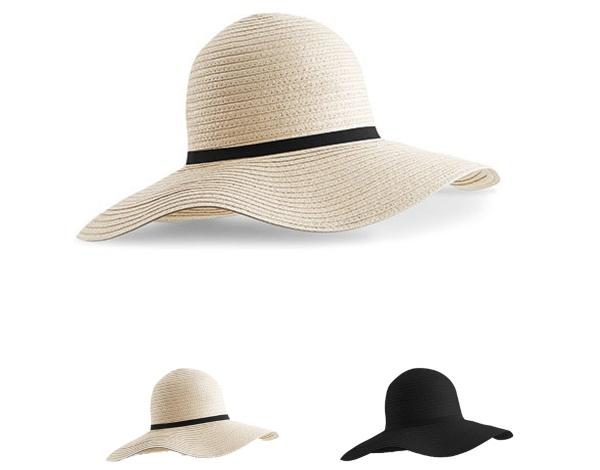CB740 Beechfield Marbella Wide-Brimmed Sun Hat Kopfbedeckungen im Sommer