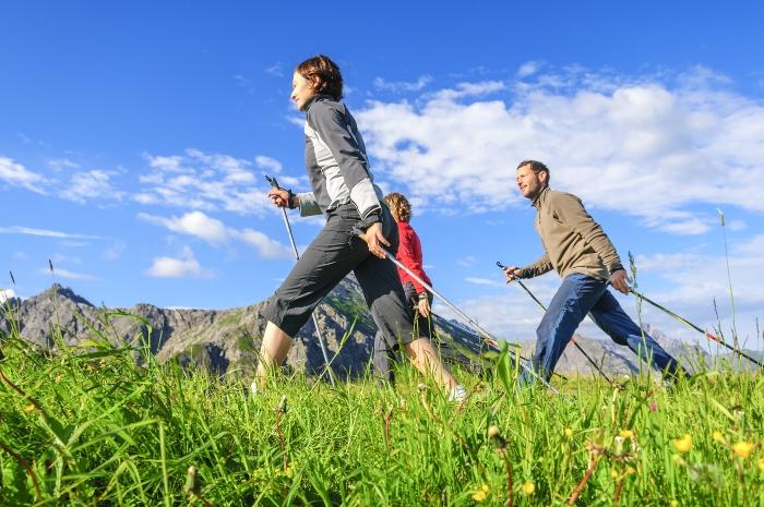 Nordic Walking-Gruppe Nordic Walking Kleidung