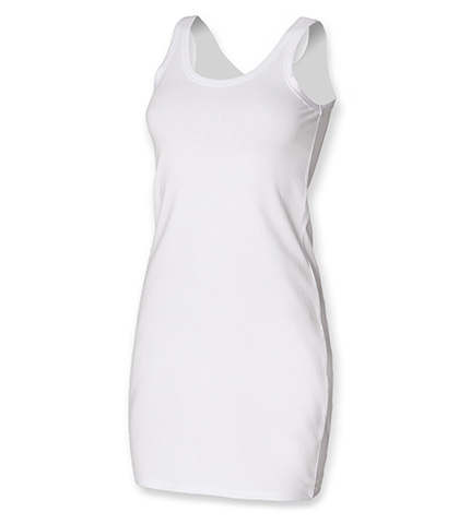 SF Women Ladies Stretch Vest Dress