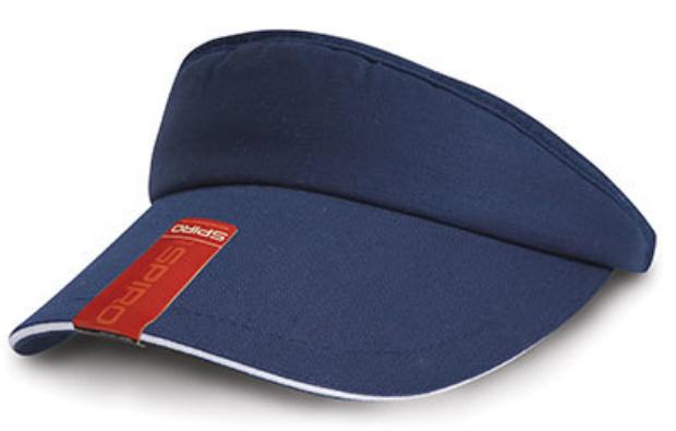 RH48 Result Headwear Herringbone Sun Visor Schildkappen