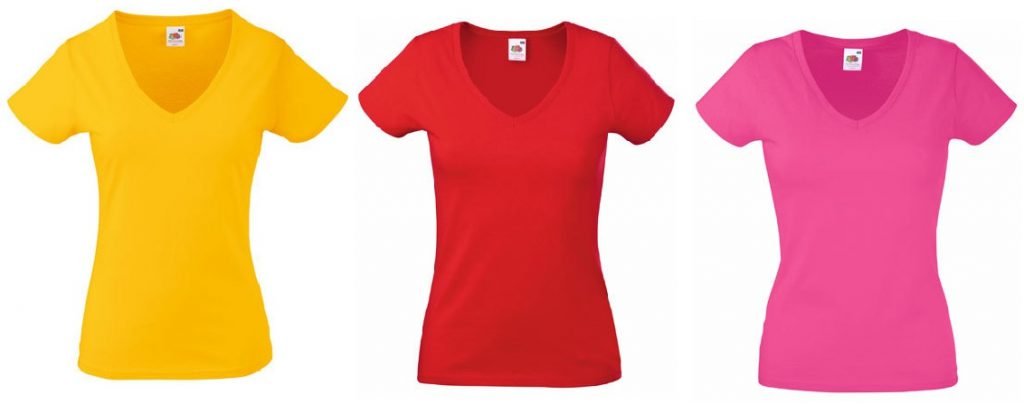 Fruit of the Loom Lady-Fit Valueweight V-Neck T T-Shirt kaufen