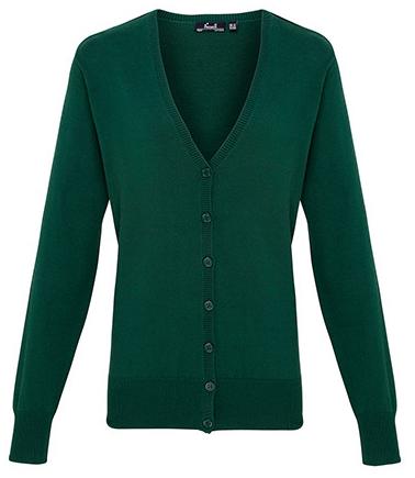 PW697 Premier Workwear Ladies Button Through Knitted Cardigan