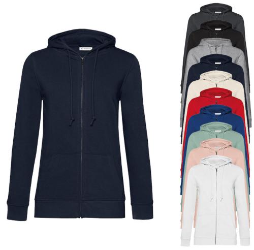 B&C Organic Zipped Hood Jacket /Women