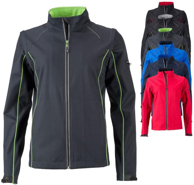 JN1121 James+Nicholson Ladies` Zip-Off Softshell Jacket Die PU-Beschichtung bei Jacken