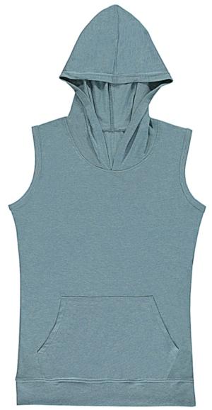 nakedshirt Cecilia Womens Sleeveless Hooded T-Shirt