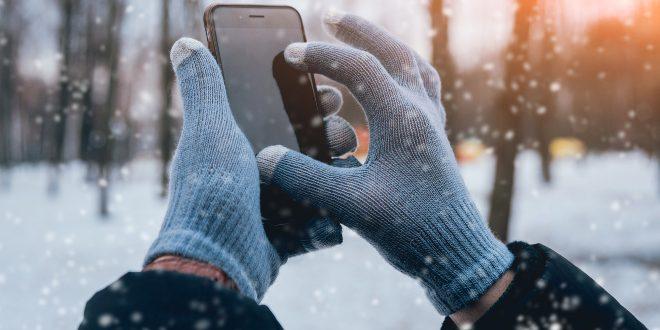Touchscreen-Handschuhe im Winter