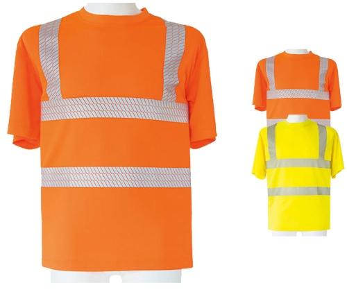 KX072 Korntex Hi-Viz Broken Reflective T-Shirt EN ISO 20471