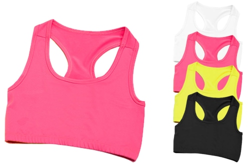 JC017 Just Cool Girlie Cool Sports Crop Top